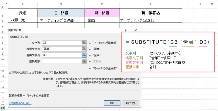 Excel(エクセル)SUBSTITUTE(サブスティチュート)関数_使用例1