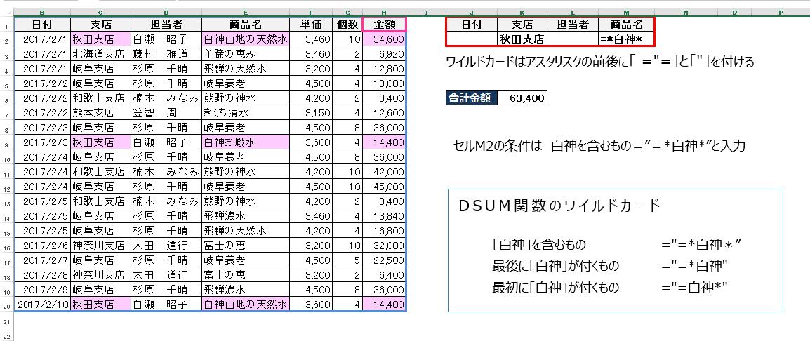 Excel企業研修(DSUM関数)セミナー3