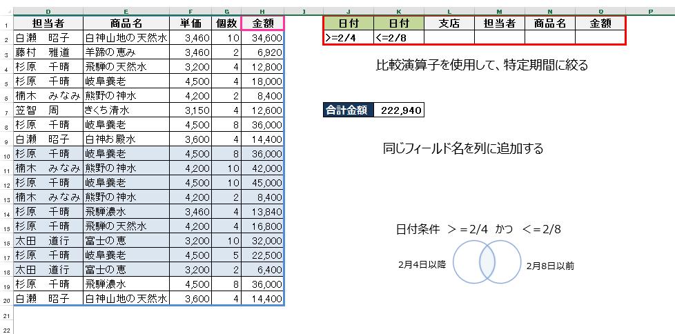 Excel企業研修(DSUM関数)セミナー4